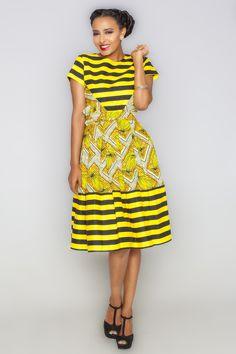 Vendor: Kaela KayYazmeen Awo Striped Dress | African Fashion