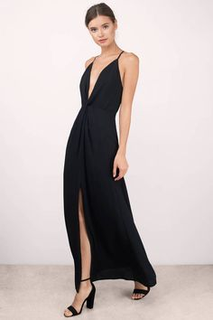 6535c4d37d Get romantic with the Eyes On You Knotted Maxi Dress. Featuring