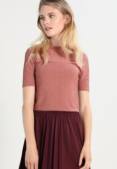 Lost Ink T-shirt basic - dark pink - Zalando.pl