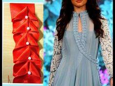 (126) Designer Anarkali suit Embellished Lace| Creative Lace Making | DIY| - YouTube