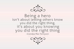 hero. you probably won't know the author unless you have small children. I recogonized it immediately :) #words