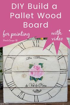 DIY these fun pallet wood board surfaces to paint on. You can customize the sizes, using different types wood and more. Paint DIY signs, acrylic paintings and custom art on wood.  No need to take apart and crusty old pallet. Playhouse Furniture, Pallet Playhouse, Pallet Patio, Pipe Furniture, Furniture Vintage, Furniture Design, Pallet Boards, Wood Pallet Signs, Wood Boards