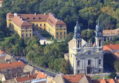 the church, old palace, and park I walked past every day on my way to work in Pápa Hungary