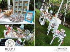 Mesa de dulces | fiesta | jardín | naranja & azul | www.beKUUKI.com