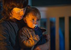 Carl Grimes (Chandler Riggs) and Judith Grimes (Chloe Garcia-Frizzi) in Episode 10 Photo by Gene Page/AMC