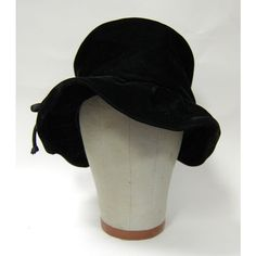 f5f62173daf Vintage 1930s Women s Black Velvet Floppy Hat Perfect Condition found on  Polyvore Funky Hats