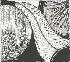 Circles in Black by Sharla R. Hicks, Certified Zentangle Teacher | Flickr - Photo Sharing! Sharla was inspired to try the circle format by viewing Jo in NZ work that often includes circles.