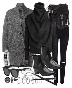 """Untitled #18839"" by florencia95 ❤ liked on Polyvore featuring Frame Denim, Isabel Marant, Acne Studios, Forever 21, Proenza Schouler, Yves Saint Laurent, CÉLINE, H&M, Monica Vinader and Simply Vera"