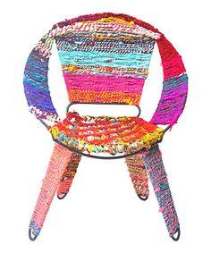 Pink & Purple Chindi Chair