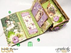 Luck of the Irish Matchbox and Leprechaun Hat, Time to Flourish, Tutorial by Sandy Trefger, Product by Graphic 45, Photo 006