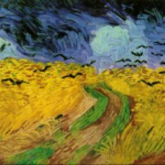Vincent van Gogh (wheat Field with Crows) 1890, oil on canvas. In Vincent's letters this painting is mentioned ~ near the end of his life. Amsterdam, Van Gogh Museum.