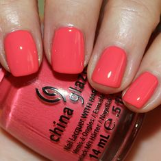 China Glaze Surreal Appeal Brand new Coral Nail Polish, Nail Polish Dupes, China Glaze Nail Polish, Coral Nails, Nail Polish Sets, Gel Polish, Uv Gel Nails, Gel Nail Art, Nail Manicure