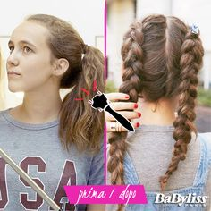 Coda Casual o due trecce inverse? Quale acconciatura preferite per un look sportivo? Scoprite tutti i tutorial Twist Secret su www.twistsecret-babyliss.it #trecce #tutorial #sportlook #diy #treccia #hair #braids #braid #style #fashion