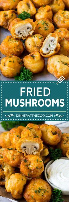 Fried Mushrooms - Fried Mushrooms Recipe Best Picture For snack recipes - Mushroom Recipes Indian, Fried Mushroom Recipes, Mushroom Appetizers, Best Appetizers, Appetizer Recipes, Mushrooms Recipes, Simple Mushroom Recipes, Stuffed Mushroom Recipes, Baby Bella Mushroom Recipes