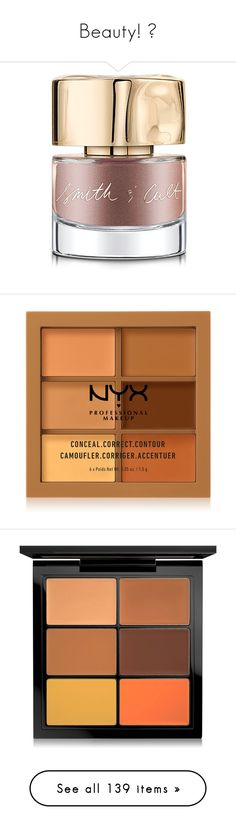 """""""Beauty! 😍"""" by blondemommy ❤ liked on Polyvore featuring beauty products, nail care, nail polish, shiny nail polish, makeup, face makeup, concealer, deep, nyx concealer and nyx"""