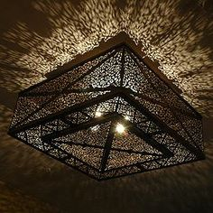 Handcrafted Moroccan ceiling lamp, Moroccan lantern, Moroccan ceilight light  fixtures. For more info, please go to: ...