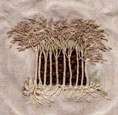 Embroidered trees Francine