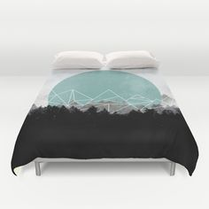 Buy ultra soft microfiber Duvet Covers featuring Woods Abstract 2 by Mareike Böhmer Graphics. Hand sewn and meticulously crafted, these lightweight Duvet Cover vividly feature your favorite designs with a soft white reverse side.