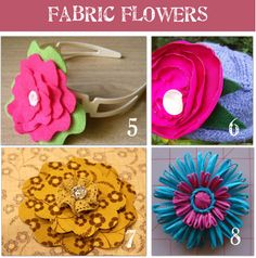 activities for kids How to Make Fabric Flowers {16 Patterns & Tutorials}
