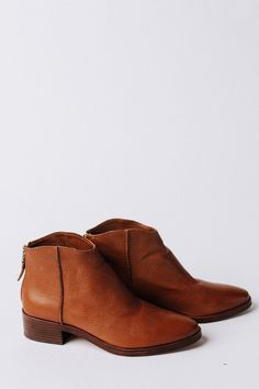 f3c7323944 Tucker Booties in Brown Leather