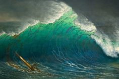 The Shore of the Turquoise Sea, Albert Bierstadt, 1878.  By tiz_herself on flickr.com    One of my favorite artists. I loved the luminosity of this. It reminds me a little of a Hokusai woodblock.