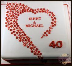 "Ruby ""40th"" Wedding Anniversary cake"