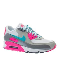 wholesale dealer b2549 7fad7 Amazon.com   NIKE AIR MAX 90 2007 (GS) BIG KIDS 345017-109 (5, WHITE BRIGHT  TURQUOISE-LASER PINK-COOL GREY)   Shoes
