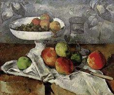 Paul Cézanne - Still life with fruit bowl.