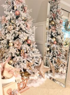 elpetersondesign christmas tree 2016 christmas tree with white decorations rose gold christmas tree christmas - Blush Christmas Decorations