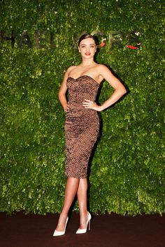 Miranda Kerr Michael Kors Shangai Opening Store May 8 2014 - Michael Kors Strapless Polka-Dot Dress