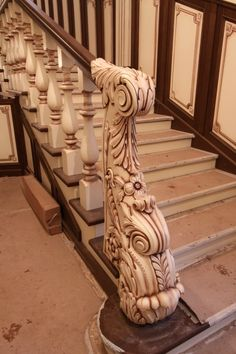 A staircase grill is not just a safety feature. The newels, balusters, and grills of a staircase can make a real design statement and bring a sense of Wooden Staircase Railing, Staircase Design, Wood Furniture Legs, Furniture Design, Front Door Design Wood, Modern Stairs, Grill Design, Stairways, Decoration