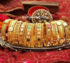 Photo From Manubhai Jewellers Bangle Collection - By Manubhai Jewellers Gold Bangles Design, Gold Jewellery Design, Gold Jewelry, Designer Jewellery, Gold Bracelets, Bridal Jewellery, Beaded Jewelry, Manubhai Jewellers, Jewellery Sketches