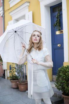 Les Parapluies de Cherbourg Work Fashion, Fashion Details, Miss Pandora, Louise Ebel, Transparent Raincoat, Cherbourg, Rain Wear, Passion For Fashion, Preppy