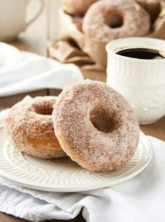 Baked Cinnamon and Sugar Donuts - A Happy Food Dance