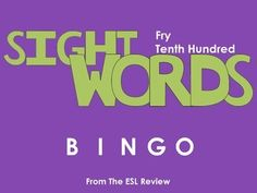 Play bingo with your students in style using these beautifully crafted bingo cards covering the tenth hundred of the Fry Instant Sight Words. This packet includes: - a set of 50 bingo cards for the first fifty words- a second set of 50 bingo cards for the remaining fifty words- caller cards for each set- bingo markersEnjoy!Dont forget to try:* Fry Sight Words Bingo - First Hundred* Fry Sight Words Bingo - Second Hundred* Fry Sight Words Bingo - Third Hundred* Fry Sight Words Bingo - Fourth…
