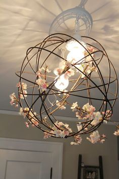 Twigs and floral light art