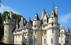 The Château d'Ussé, Rigny-Ussé, Indre-et-Loire, France.