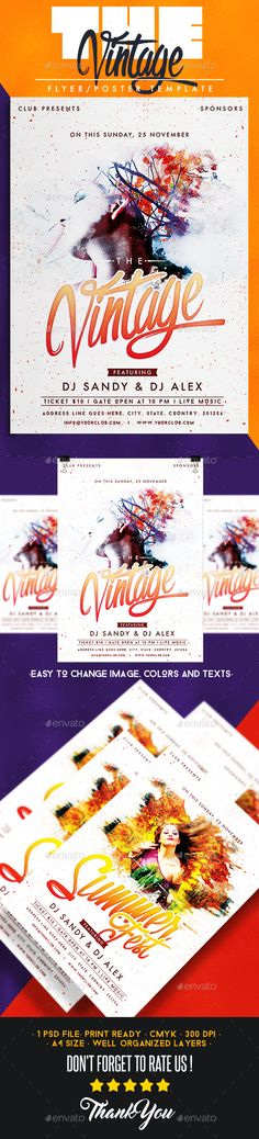 Easter Flyer Template - GraphicRiver Item for Sale Nightlife - for sale poster template