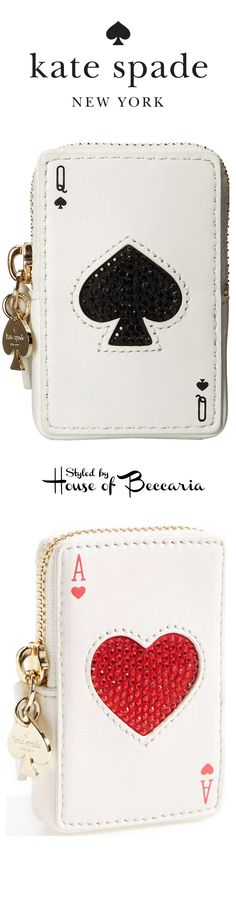 "~Kate Spade ""Place Your Bets"" coin purse 