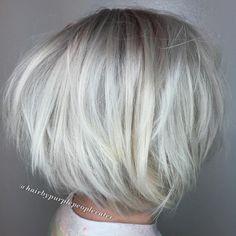 Platinum Blonde Chopped Bob