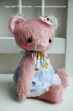 Bear its strange my name is jennyleigh and my son is ben same as the designer of this bear
