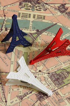 Metal Clip Set - Eiffel Tower