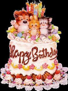 postcard Happy birthday анимашки С Днем рождения торты, подарки 14 - clipartis Jimdo-Page! Скачать бесплатно фото, картинки, обои, рисунки, иконки, клипарты, шаблоны, открытки, анимашки, рамки, орнаменты, бэкграунды