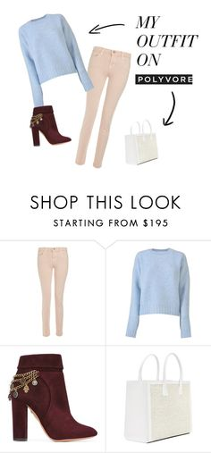 """Без названия #23"" by meetmignon on Polyvore featuring мода, J Brand, CÉLINE и Aquazzura"