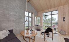 Interiørbilde 2 fra hytta mi, Solbris fra Norgeshus, tegnet av arkitekt Tore Normann.