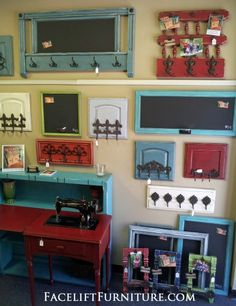 Coat & towel racks made from dresser drawer fronts, cabin… Repurposed & Upsytled! Coat & towel racks made from dresser drawer fronts, cabinet doors, and headboards! From Facelift Furniture's Repurposed Wall Pieces collection. Refurbished Furniture, Repurposed Furniture, Furniture Makeover, Painted Furniture, Recycling Furniture, Dresser Repurposed, Repurposed Doors, Chair Makeover, Repurposed Items