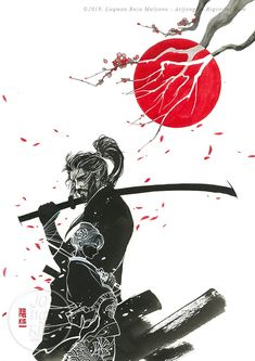 Japanese Art Samurai, Japanese Warrior, Japanese Artwork, Japanese Tattoo Art, Samurai Drawing, Samurai Anime, Samurai Artwork, Samurai Wallpaper, Really Cool Drawings