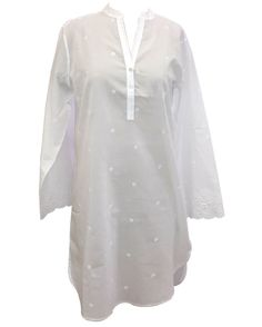 6da2fb5ce Nora-Rose by cyberjammies All Over Embroidered Nightshirt All over  embroidered 100% Cotton V