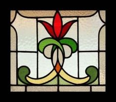 flickr photos stained glass frames | Stunning Art Nouveau Flower Stained Glass Window | eBay