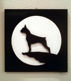 Moonlight Boxer wall art by CarteriArtAndDeco on Etsy